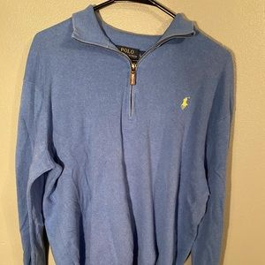 Median Blue Polo Ralph Lauren Quarter Zip